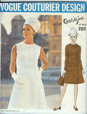 Mod 60s Galitzine Vogue Couterier Pattern