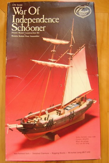 Lindberg Model Kit War of Independence Schooner No. 711