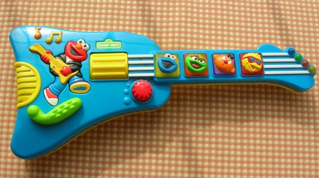 Sesame Street Elmo Rock & Roll Electric Musical Guitar Toy