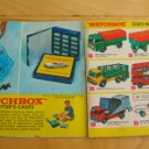 Matchbox Cars 1968 Collectors Catalogue Booklet