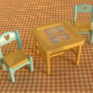 Fisher Price Loving Family Dollhouse Furniture Flip Top Table and Chairs