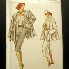 Vogue 9976 Sewing Pattern Vintage 80's pencil skirt, wrap blouse, oversized jacket