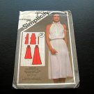 Vintage Sewing Pattern Knit Dress 80s Glam Simplicity 9823