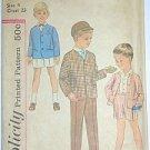 Boy's Suit Vintage 50s Sewing Pattern Simplicity 3330