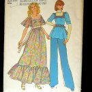 Maxi Dress or Peasant Top 70s Vintage Sewing Pattern Simplicity 7174