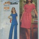 Pants and Dress Simplicity 5556 Vintage 70s Sewing Pattern