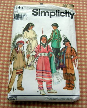 Native American Costume Simplicity 9145 Sewing Pattern