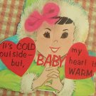 Vintage 50s Valentines Cards Eskimo