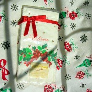 Vintage Christmas Hallmark Paper Guest Towels