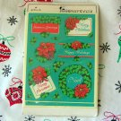 Vintage Christmas Hallmark Stickers or Seals in Package