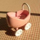 Little Tikes Dollhouse Miniature Baby Carriage 4 inches long