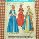 Revolutionary War Costume Vintage 70s Sewing Pattern Simplicity 6787