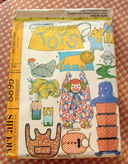 McCall's Vintage Craft Sewing Pattern  8895 25 Bazaar Boutique Items