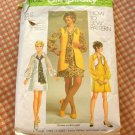 Mod Mini Dress Bolero Vest Vintage Sewing Pattern Simplicity 9182