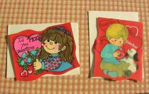 Vintage 70s Kids Valentines Cards