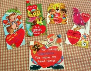 Vintage Valentine Cards Circus Animals, Clown