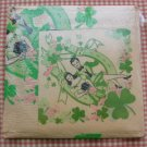 Vintage 40s Saint Patricks Day Paper Napkin and Tablecloth