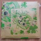 Vintage 40s Saint Patricks Day Paper Napkin and Tablecloth