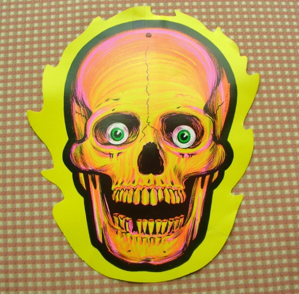 Vintage beistle halloween decorations paper diecut cut outs Vintage halloween decorations uk