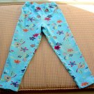 Hanna Andersson Floral and Blue Knit  Leggings Girls Size 120 Hannah Anderson