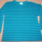 Hanna Andersson Blue Striped Knit Top Girls Size 100 Hannah Anderson