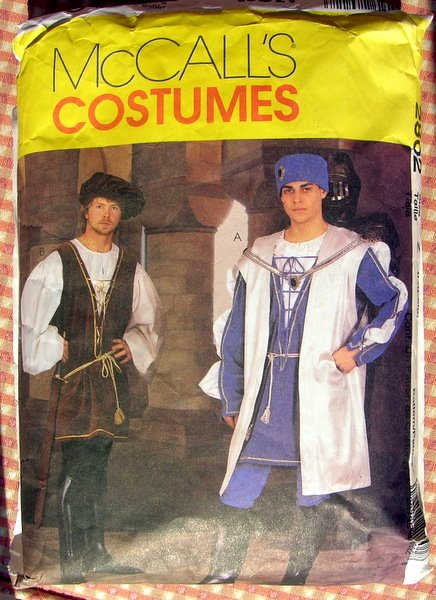 Men's Renaissance Costumes Sewing Pattern McCall's 2802