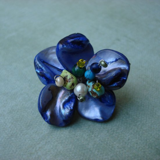 Peacock Flower Cocktail Ring