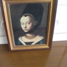 #8  Figurative Renaissance Lady on Canvas Framed Artwork