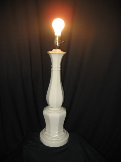 #2  Cream Color Ceramic Base Table Lamp with Shade