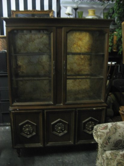 #1  Vintage 1960's China Cabinet 3 Doors