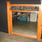 #2  Pine Wood Distressed Oversize Mirror with Cast Iron Scroll Accents