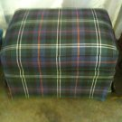 #18  Plaid Upholstered Ottoman with Skirt  $ 25.00
