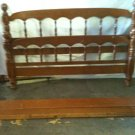 #39  Full Size Spindle Bed Head & Foot Board with Rails