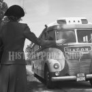 Woman Hailing Bus on Georgia Highway. Photo Esther Bubley Greyhound Vintage Historic 40s Pretty
