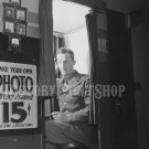 Handsome Soldier Photobooth Vintage Old Photo Historic Print Sexy Man Military WWII 40s World War 2