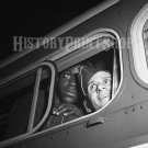 Black and White Soldier Bus Vintage Old Photo Historic Handsome Men Military 40s WWII World War 2