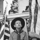 Boy Scout Flags Arlington Cemetery Photo Militar War 2 Vintage Old Photo Historic Print 40s WWII