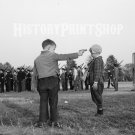 Boys Playing with Gun Photo Esther Bubley Vintage Old Photo Historic Print Military Cadets 40s