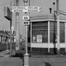 DOROTHEA LANGE PHOTO VINTAGE SERVICE STATION SIGN US 99 PORTLAND SAN FRANCISCO HISTORIC OLD OREGON