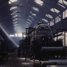 SANTA FE TOPEKA RAILROAD TRAIN SHOP VINTAGE SHOP HISTORIC LOCOMOTIVE PHOTO TOPEKA KANSAS DELANO 40S