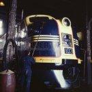 SANTA FE DIESEL FREIGHT YARD TRAIN KC VINTAGE PHOTO 40S