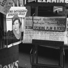 NEWSPAPER STAND NEW DEAL NEWS PHOTO DOROTHEA LANGE SATURDAY EVENING POST VINTAGE HISTORIC 30S CA