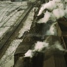 CHICAGO STATION TRAIN YARD RAILROAD VINTAGE PHOTO LOCOMOTIVE TRACKS JACK DELANO 1940S