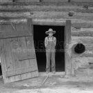 DOROTHEA LANGE PHOTO HISTORIC 1939 FARM BOY TOBACCO BARN PORTRAIT VINTAGE