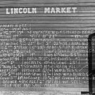 WALKER EVANS PHOTO LINCOLN MARKET VINTAGE FOOD HISTORIC SIGN 30S