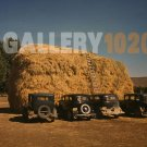 VINTAGE CAR PHOTO HAY STACK RUSSELL LEE 1940 DELTA CO