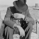 DOROTHEA LANGE VINTAGE PHOTO OLD NEBRASKA MIGRANT FARMER DEPRESSION HISTORIC