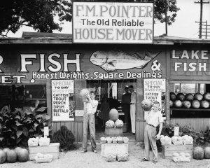 Walker Evans Photo Fish Market Vintage Shop Historic Fruit