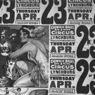 DOWNIE BROS CIRCUS WALKER EVANS POSTER PHOTO TIGER VINTAGE HISTORIC 3 RING CARNIVAL AD 1936