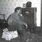 POLISH MINER RADIO HOME MAN PHOTO VINTAGE POST WOLCOTT
